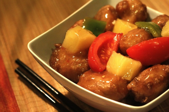 Sweet and Sour Chicken Recipe by Chef Katie Chin  (Serves 4-6)