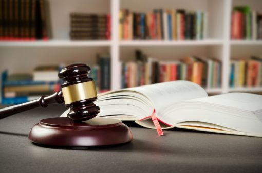 justice concept in court library. law attorney court lawyer gavel judge justice legal conception