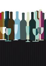 spirits and wine bottles