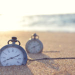 clocks in the sand time travel concept